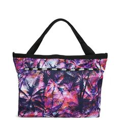 Lesportsac Palm Tree Beach Tote (68 CAD) ❤ liked on Polyvore featuring bags, handbags, tote bags, maui, lesportsac purse, palm tree purse, white tote, top handle purse and lesportsac tote bag