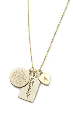 Charm & Chain | Treo Combo Necklace - Monogram - Collections