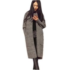 Dailiwei Womens Sweater Open Cardigans Outerwear Knits Winter Warm Coats Jacket -- Awesome products selected by Anna Churchill