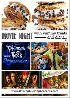 Movie Night with Yummy Treats and Disney Movie Night For Kids, Dinner And A Movie, Family Movie Night, Disney Family Movies, Kid Movies, Disney Movie Nights, Watch Movies, Disney Themed Food, Disney Food