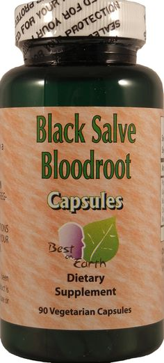 Black Salve Bloodroot Capsules- Iv used the capsules the tinctures and the salve to go into reemision. natural is best.