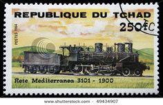 Postage Stamp, train