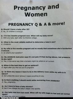 Very valid information on pregnancy: