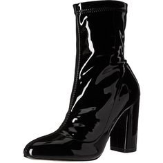 Daya by Zendaya Women's Kathryn Ankle Bootie ($24) ❤ liked on Polyvore featuring shoes, boots, ankle booties, bootie boots, ankle boots, daya, mod boots and short boots