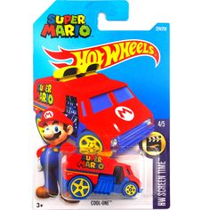 ホット販売ホットウィール2016スーパーマリオクールワン車モデル金属ダイキャストカーコレクション子供のおもちゃ車両用子供