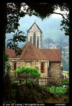 French church, Sapa. Sapa, Vietnam