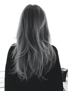 Black to grey ombre. I am really starting to fall in love with this, but I'm not sure it's appropriate for the office or not :S