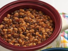 Texas-Style Barbecued Beans Recipe... I've been craving baked beans lately.