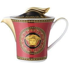 Versace Home Medusa Red Porcelain Teapot (4,575 CNY) ❤ liked on Polyvore featuring home, kitchen & dining, teapots, kitchen, tea-pot, red teapot, red tea pot, porcelain tea pot and versace