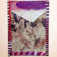 """""""I'm ready"""" mixed media on canvas 2014 painted by mariko Murase"""