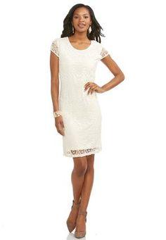 Cato Fashions Crochet Lace Sheath Dress-Plus #CatoFashions