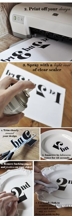 DIY Transfer Decal Tutorial - i need this!