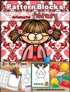 Pattern Block Puzzles for February!! Lots of different options and differentiation in this pack!!!