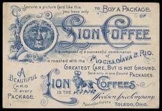vintage coffee label ephemera