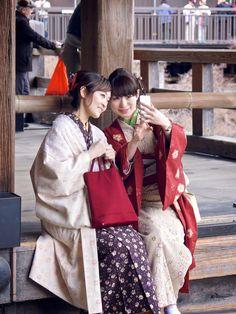 Candid Portrait of a Kimono Selfie