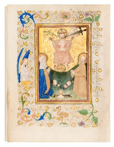Translated into Dutch vernacular by Geert Groote. Border decoration in 'the coloured Delft style' and in 'the 'kriezel-style'. Medieval Manuscript, Illuminated Manuscript, Illumination Art, Book Of Hours, Utrecht, Delft, Hand Painted, Dutch, Drawings