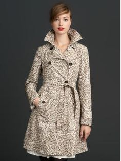 Leopard Print Trench from Banana Republic's Mad Men Collection. I love everything from this collection!