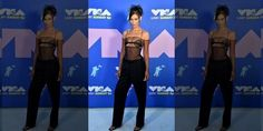 2020 MTV VMAs: Bella Hadid leaves little to the imagination in sheer shirt | Fox News Mtv Video Music Award, Music Awards, Sheer Black Shirt, Bella Gigi Hadid, Fox News App, Mtv Videos, Vogue Covers, Love Hurts, Old Models