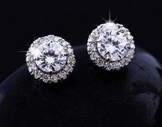 Diamond Solitaire Earrings, Diamond Studs, Diamond Jewellery, Fancy Earrings, Stud Earrings, Modern Jewelry, Fine Jewelry, Gold Jewelry, Vintage Jewelry