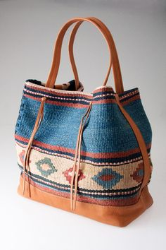 Kilim Tote in Natural by Tylie Malibu