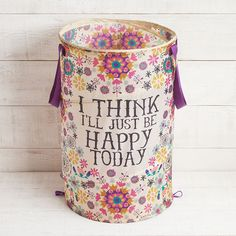I'll think I'll just be happy today...Colorful Collapsible Fabric Hampers