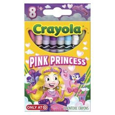 Crayola Pick your Pack Pink Princess - 8 Crayons. Lex loves these.