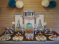"Photo 1 of 74: Peter Rabbit Chevron Blue / Birthday ""Luca's Peter Rabbit 1st Birthday"" | Catch My Party"