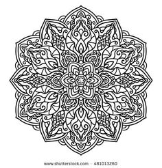 Mandala. Ethnic decorative elements. Hand drawn background. Islam, Arabic, Indian, ottoman motifs, adult coloring book, doodle style, oriental style