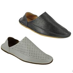 Mens Faux Leather Moroccan Babouche Slippers Folded Back Slide Shoes Black White Rubber Shoes, Toe Shape, Black Shoes, Slippers, Slip On, Moroccan, Black And White, Heels, Leather