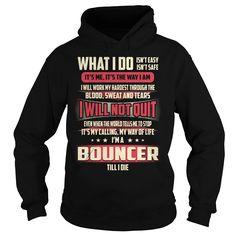 Bouncer Job Title T-Shirts, Hoodies. BUY IT NOW ==► https://www.sunfrog.com/Jobs/Bouncer-Job-Title-T-Shirt-Black-Hoodie.html?id=41382