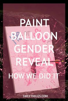 unique gender reveal using paint balloon and bow and arrow