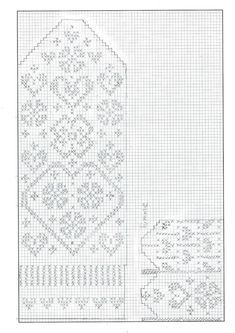 Knitting Charts Socks Libraries Ideas For 2019 Knitting Machine Patterns, Knitting Charts, Loom Patterns, Knitting Stitches, Mittens Pattern, Knit Mittens, Knitting Socks, Crochet Gloves, Crochet Slippers