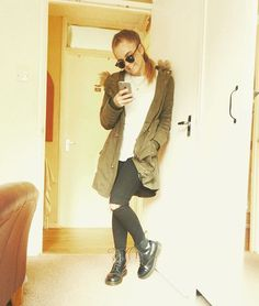 OOTD for UK rainy weather featuring a classic parka, Doc Marten boots, Topshop Joni jeans Topshop Joni Jeans, Rainy Weather, Asos Petite, Petite Outfits, Doc Martens, Petite Fashion, Passion For Fashion, Parka, Outfit Of The Day