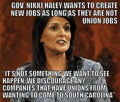 THE SOUTH IS A MESS. YOU KEEP ELECTING THESE IDIOTS WHO GIVE TAX CREDITS TO BUSINESS' TO SEND YOUR JOBS OVERSEAS!! THEN THEY CUT YOUR GOOD STAMPS+ UNEMPLOYMENT TO SUBSIDIZE THEMSELVES + THE 1%!! UNINFORMED!!