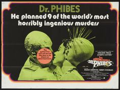 One of the best camp horror movies ever! Vincent Price in The Abominable Dr. Phibes