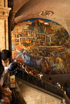 Diego rivera mural of the aztec city of tenochtitlan for Diego rivera tenochtitlan mural