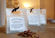 Tussie Mussies Tub Teas are an all-natural herbal bath teas are filled with the finest herbs, flowers and fragrance oils. Tub Teas are the perfect therapy for your body, mind, and soul. Each package contains 3 oversized tea bags. $12.00