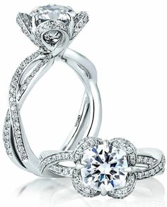 A. Jaffe Engagement Rings for Every Era Seasons of Love!!!! I love the fact that it looks like a flower