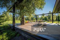 Strakke tuin met modern terras PUUR groenprojecten tuinarchitectuur - tuinaanleg Alken
