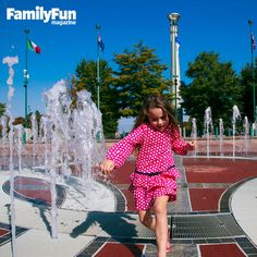 Dodging fountains in Centennial Olympic Park in Atlanta.