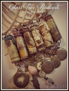 In the Light of the Moon ~ beautiful mixed media jewelry by Cat Kerr