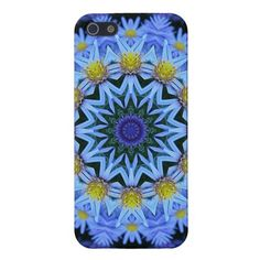 Unique, fashionable, trendy and pretty flowers iPhone 5 case. Beautiful contemporary bright yellow and blue floral kaleidoscope pattern. Summery, colorful ornate design is made for the nature, graphic digital modern flower motif, or retro vintage art lover. Cute and fun present for mom's birthday, Mother's day, Christmas gift, the girly girl or those who want a classy, chic and cool phone cover. Also available for iPhone 3 and 4, Samsung Galaxy S2 and S3, iPod Touch, and Motorola Droid Razr.