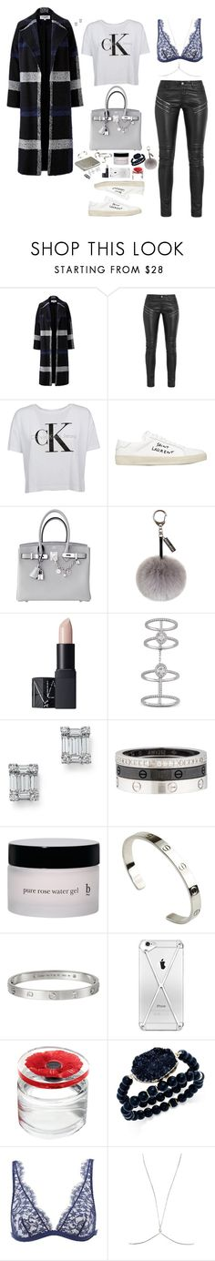 """Not surprised // ¿Por qué duele?"" by feelin-q ❤ liked on Polyvore featuring Helene Berman, Yves Saint Laurent, Calvin Klein, Hermès, Helen Moore, NARS Cosmetics, Messika, Bloomingdale's, Cartier and Henri Bendel"