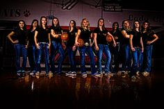 A fantastic photo by Terri Cage! Varsity basketball team photo.