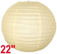 "Ivory Chinese/Japanese Paper Lantern/Lamp 22"" Diameter - Just Artifacts Brand by Just Artifacts. $2.98. Check Just Artifacts products for more available colors/sizes"