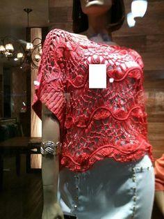 Brasil Tricô & Crochê - Handmade: Blusa croche grampo