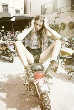Hailey Clauson / Jason Lee Parry / Motorcycle / Modern Muse