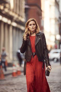 Olivia Palermo: Belt a long dress for an ultra-flattering twist.