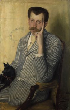 Portrait of Georges de Porto-Riche, 1889 by Jacques-Emile Blanche (1861-1942) ...Georges de Porto-Riche (1849-1930) was a French dramatist and novelist.