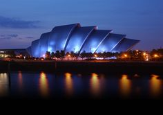 The SEC Armadillo is more than just a fantastic, purpose-built venue; it's been described as Glasgow's most iconic building with its stylish curves. Armadillo, Top 10 Destinations, Young Farmers, Glasgow School Of Art, Commonwealth Games, Amazing Buildings, Travel News, Concert Hall, Best Cities